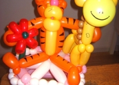 Tigger and friends balloon cake