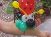Balloon ladybug bracelet