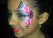 Flower eye design - Face painting Melbourne