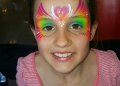 Rainbow mask - Face painting Melbourne