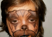 Boxer face painting