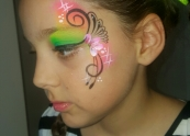 Pretty eye design face painting