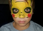 Pokemon Face painting Crystal Faces